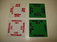 Fuel Oil & Gasoline Product Id Card