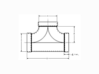 Dimensions for Allegheny Coupling Aluminum & Steel Tee
