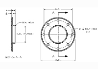 Dimensions of Allegheny Coupling Steel Flanges (Concentric)
