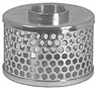 Dixon Plated Steel Round Hole Suction Strainers (Standard)